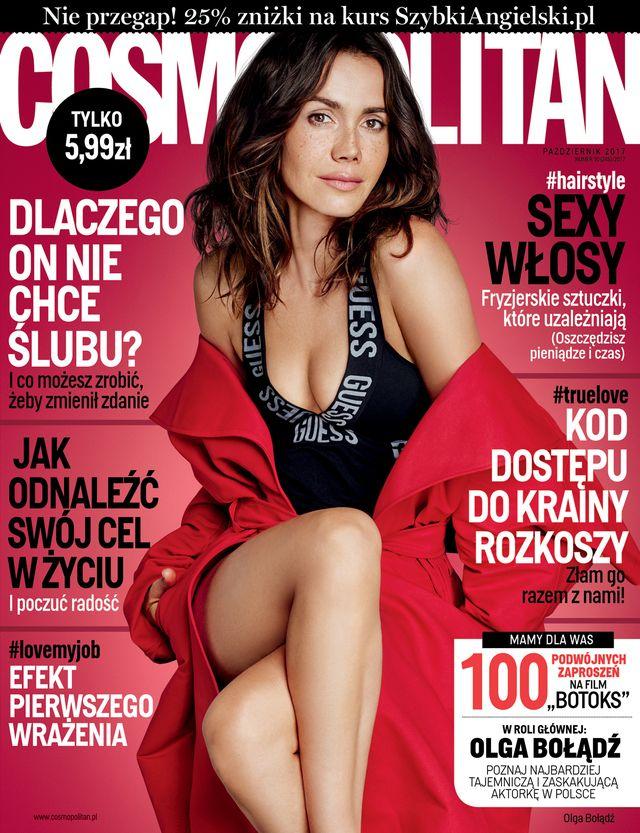 Wow! Piękna naturalna Olga Bołądź w październikowym Cosmopolitan