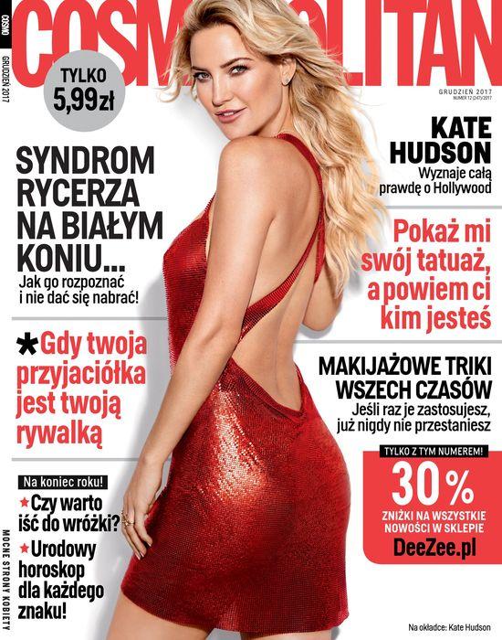 Kate Hudson gwiazdą grudniowego wydania magazynu Cosmopolitan
