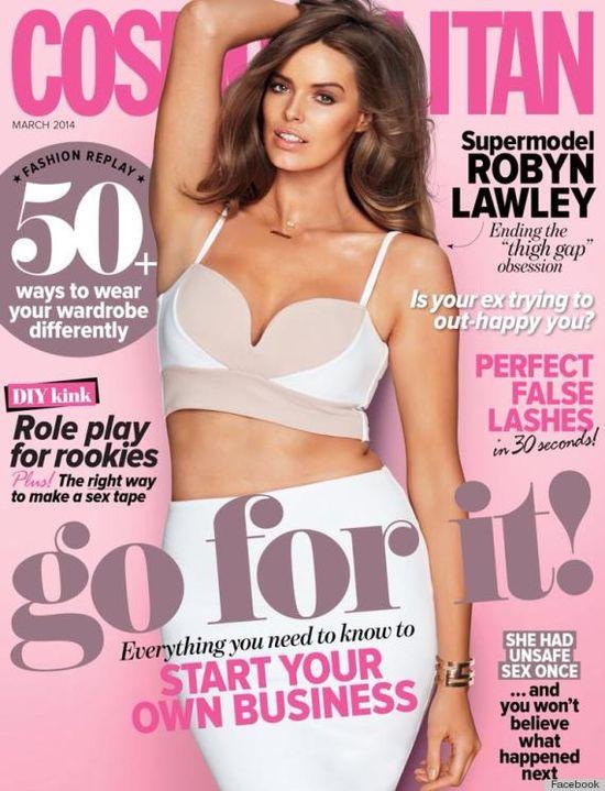 Robyn Lawley zachwyca na okladce Cosmopolitan Australia