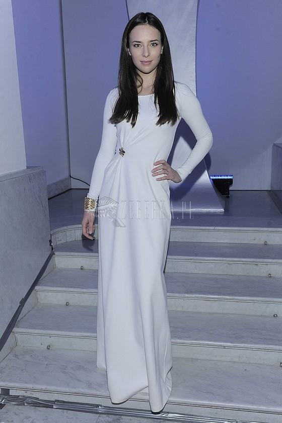 Anna Czartoryska w białej sukni