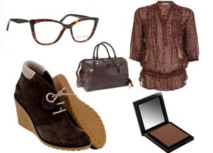 Ubrania i dodatki w kolorze czekolady