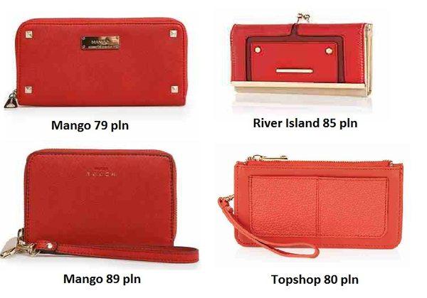 Czerwone portfele i kopertówki na każdą kieszeń