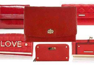 czerwone portfele
