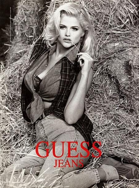 Anna Nicole Smith dla Guess
