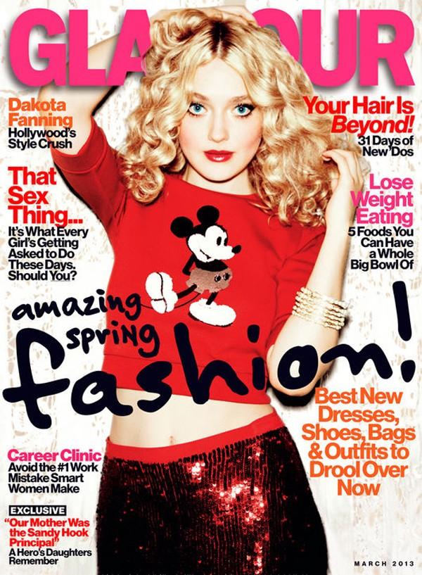 Dakota Fanning na okładce Glamour