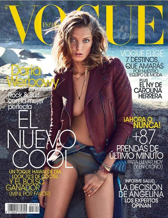 Daria Werbowy na okładce Vogue Espana
