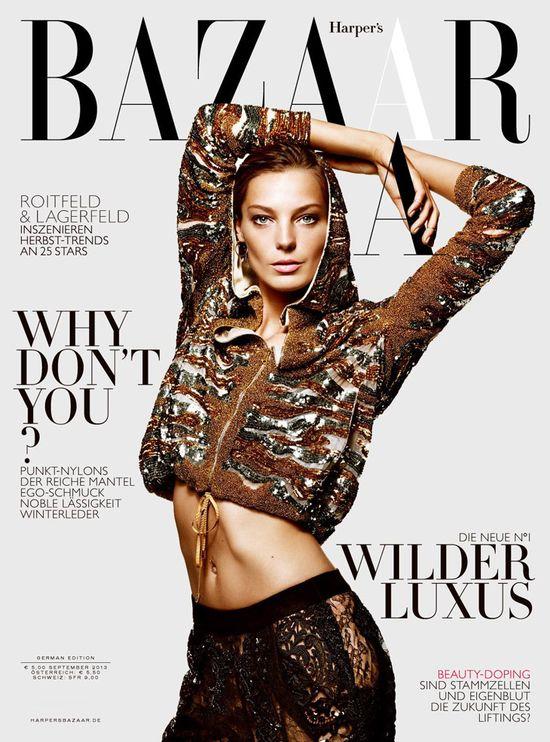 Daria Werbowy gwiazdą Harper's Bazaar i Fashion