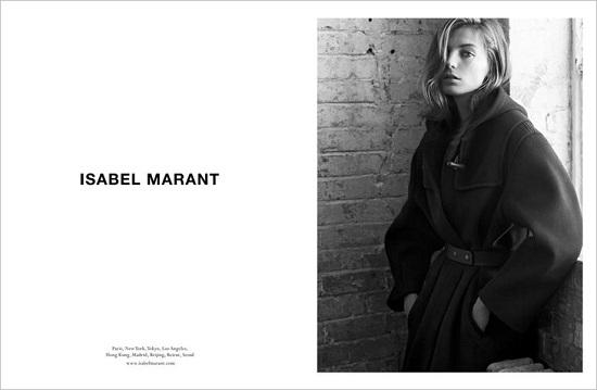 Daria Werbowy w kampanii  Isabel Marant jesień-zima 2013/14