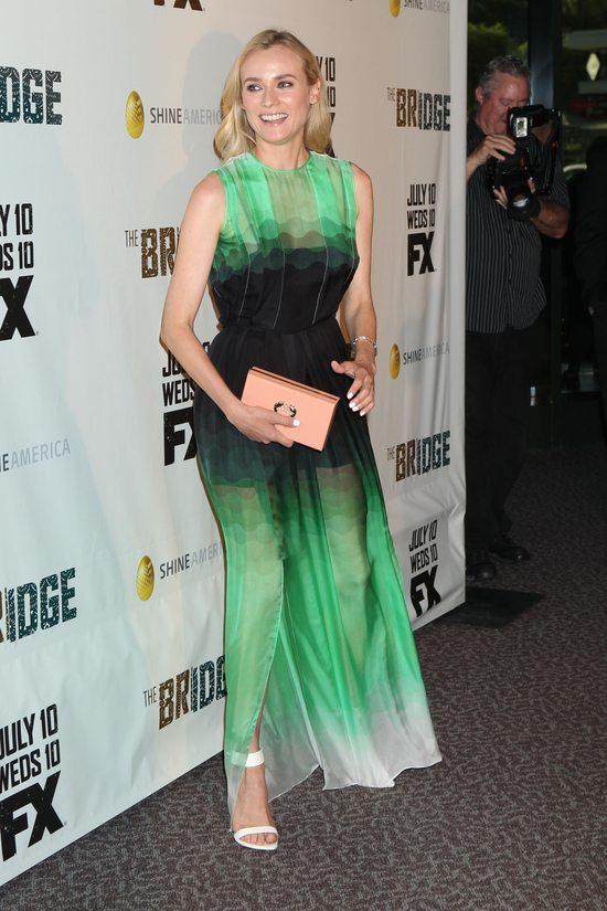 Diane Kruger w twarzowej zieleni
