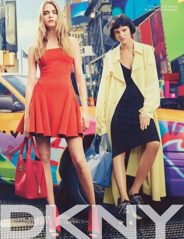 DKNY wiosna-lato 2014 z Carą Delevingne w roli głównej