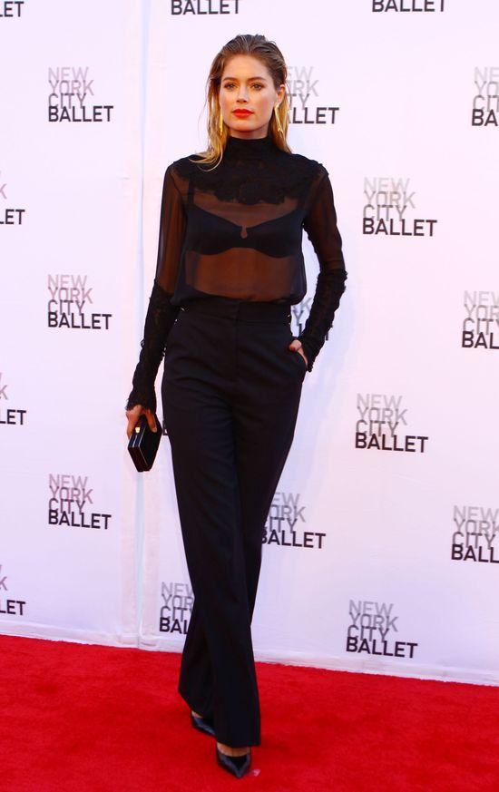 Doutzen Kroes w czerni na New York City Ballet