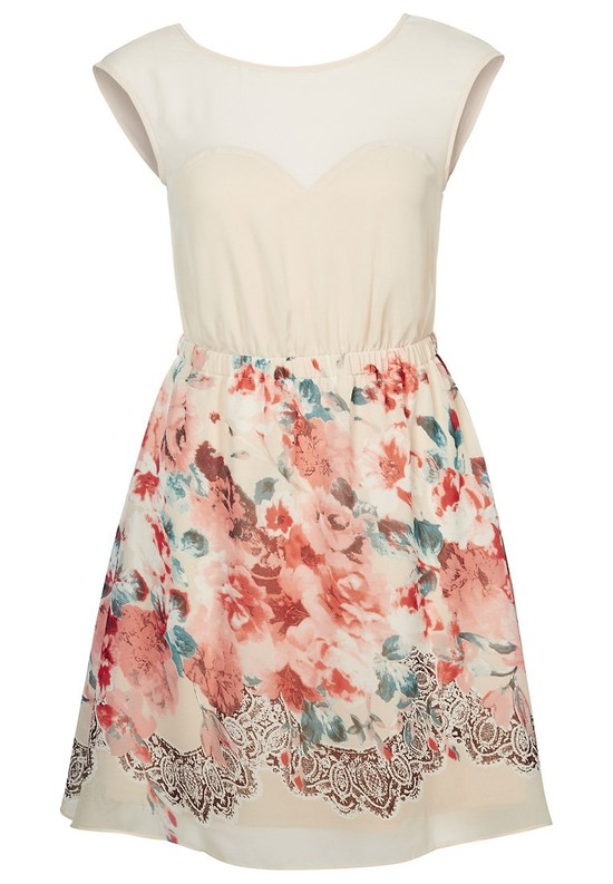 Sukienki w kwiaty - wiosna/lato 2014 - przegląd