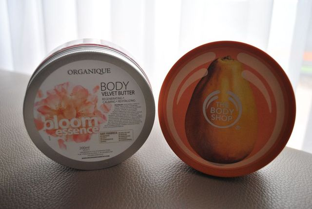Masło do ciała: Organique VS The Body Shop