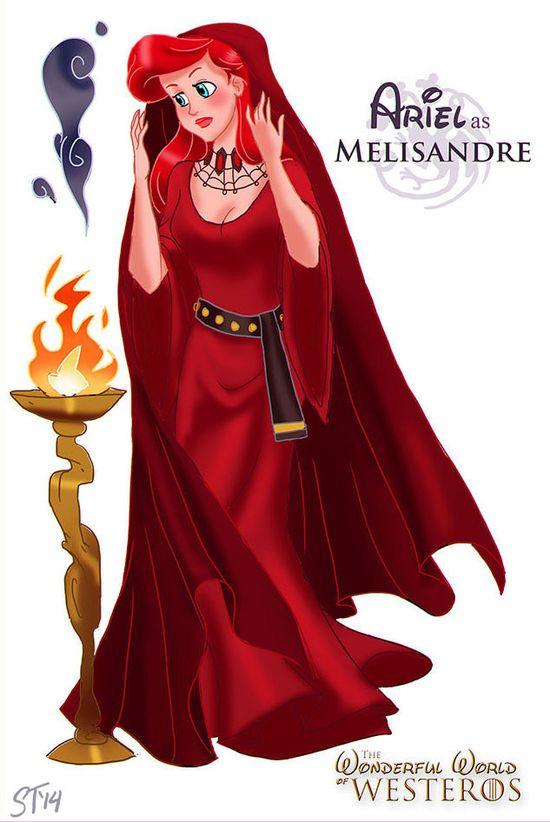 Księżniczki Disneya jako postacie z Gry o Tron
