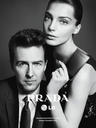 Edward Norton i Daria Werbowy dla Prady (FOTO)