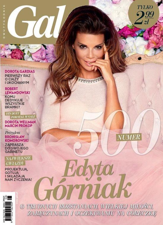 Edyta Górniak na dwóch okładkach magazynu Gala