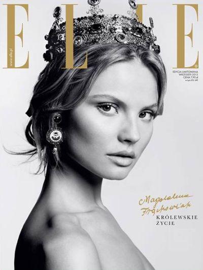 Magdalena Frąckowiak na dwóch okładkach Elle Polska