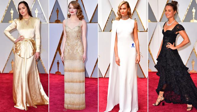 Niestety wszyscy są zgodni: czerwony dywan Oscarów 2017 nie zachwycił. Zabrakło spektakularnych kreacji i baśniowych sukien, o których można pisać godzinami. Całe szczęście znalazły się gwiazdy, które potrafiły wybrać kreację perfekcyjnie dopasowaną i do okazji i do swojej urody. Magazyn Vogue wyróżnił suknie, w których właścicielki czuły się i wyglądały wspaniale. Nie zapomniał o kreacji Emmy Stone od Givenchy Haute Couture, czy sukni Dakoty Johnson od Gucci, która wśród zebranych wzbudziła mieszane uczucia.