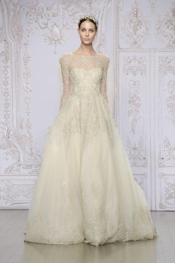 Przepiękne suknie ślubne Monique Lhuillier - jesień/zima 15