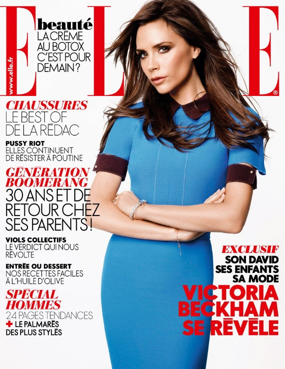 Victoria Beckham w listopadowym ELLE France