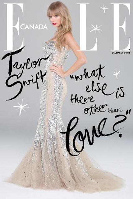 Taylor Swift na okładce grudniowego Elle Canada
