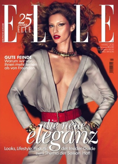 Gisele Bundchen na marcowej okładce Elle Germany