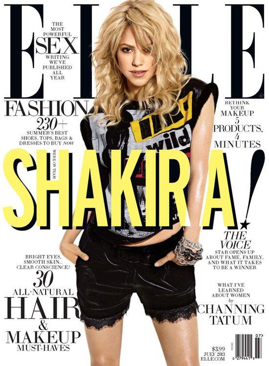 Energetyczna Shakira na okładce Elle