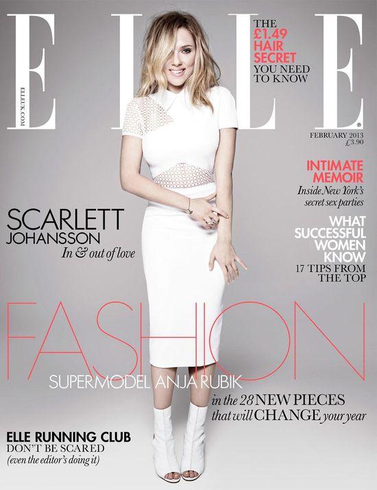 Scarlett Hojansson w Elle