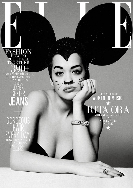 Rita Ora na dwóch okładkach Elle US