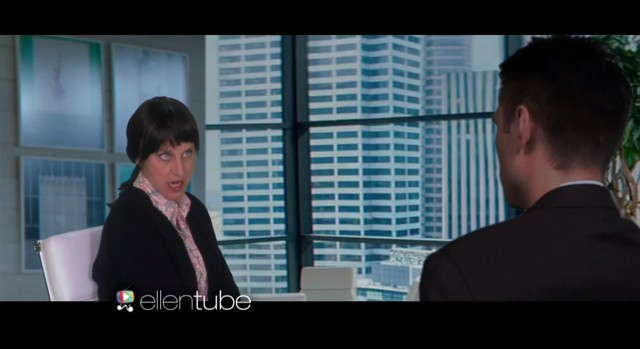 Ellen DeGeneres jako Anastacia Steele w 50 twarzach Greya