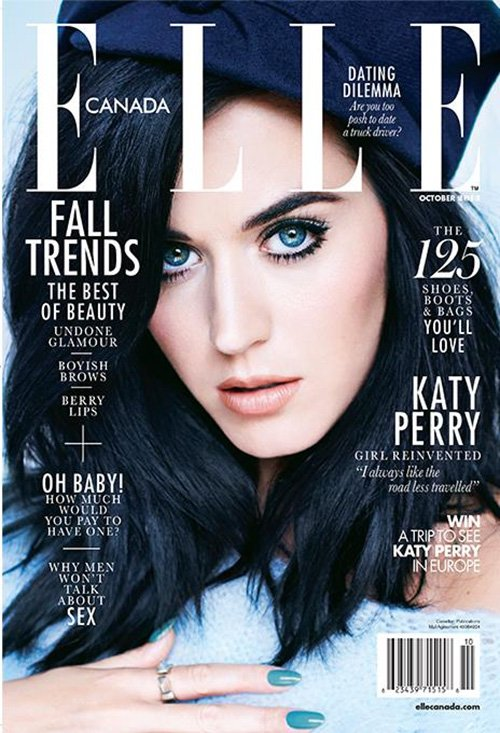 Katy Perry na okłądce kanadyjskiego Elle (FOTO)