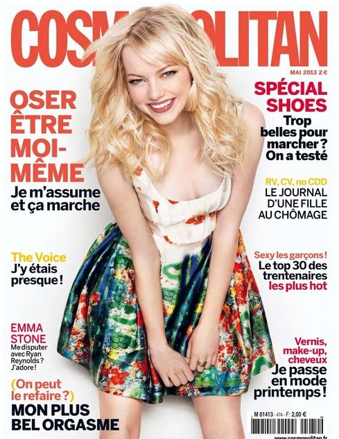 Emma Stone na wiosennej okładce Cosmopolitan