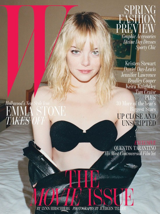 Emma Stone na okładce W Magazine