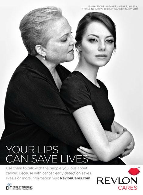 Emma Stone z mamą w kampanii Revlon