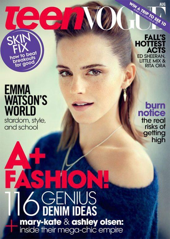 Naturalna Emma Watson dla Teen Vogue
