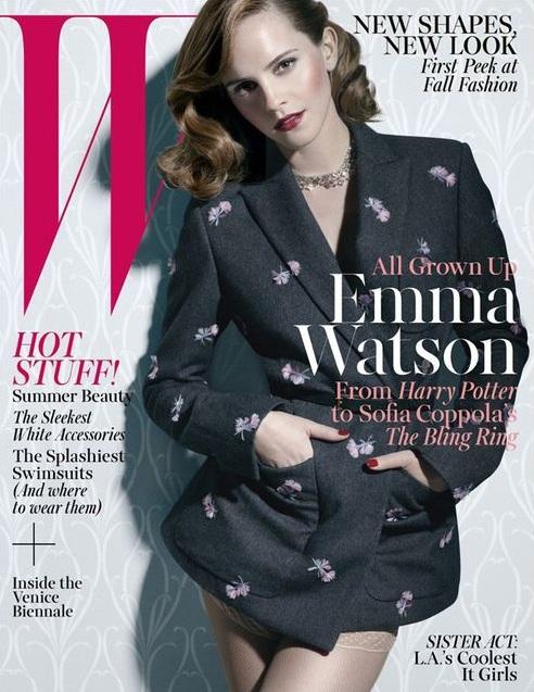 Poważna Emma Watson na okładce W magazine