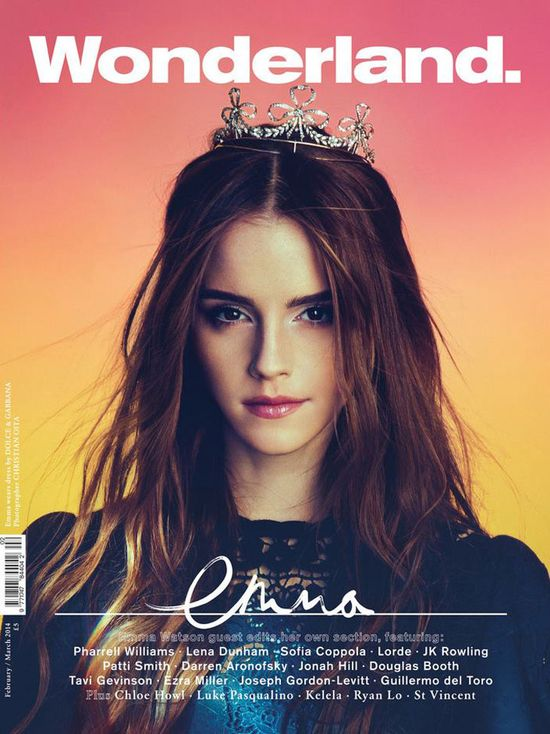 Emma Watson na dwóch okładkach Wonderland Magazine