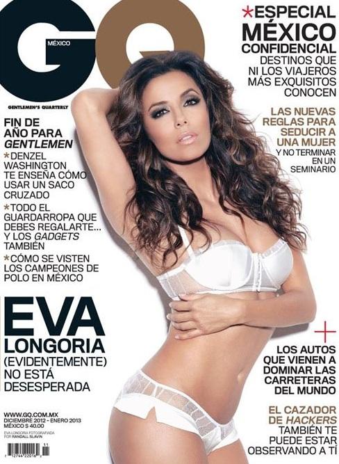 Eva Longoria w bieliźnie na okładce GQ Mexico