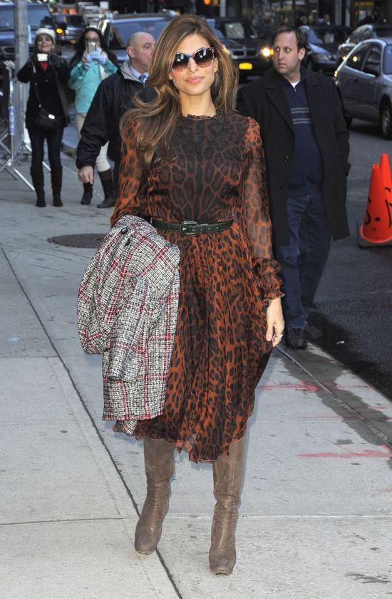 Eva Mendes w modnej panterce (FOTO)