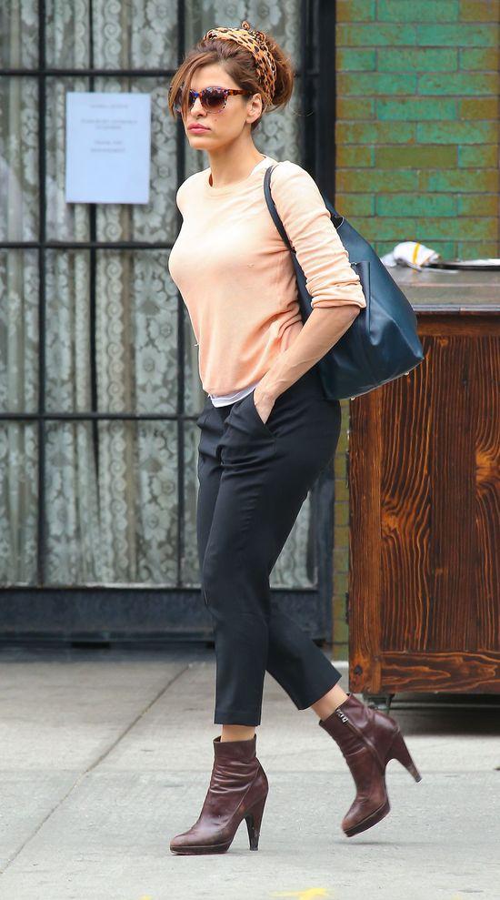 Eva Mendes w ulubionych botkach