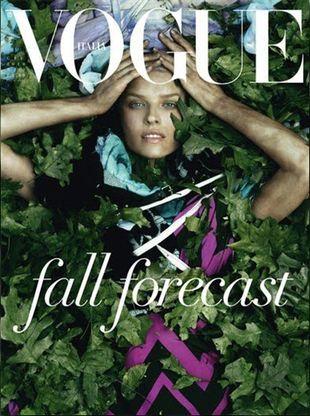 Eva Herzigova na okładce Vogue Italia