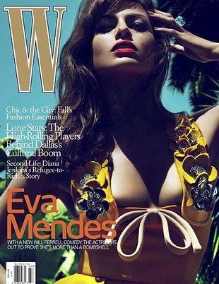 Eva Mendes na okładce W Magazine