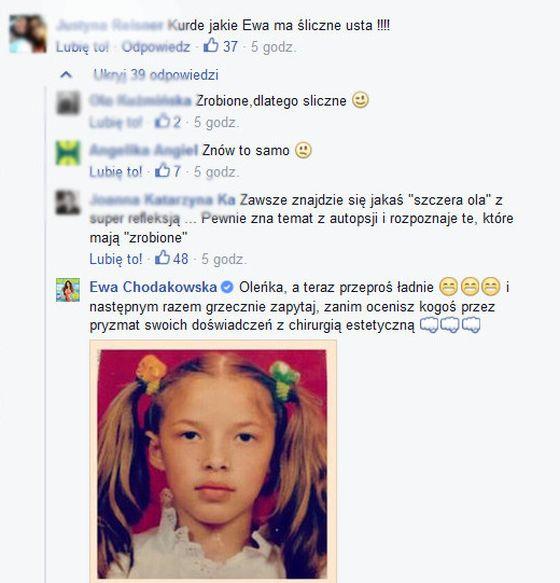 Ewa Chodakowska obraża się za komentarz o powiększaniu ust