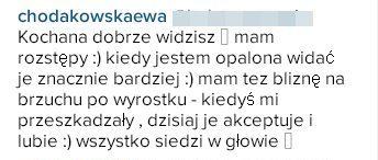 Ewa Chodakowska jednak jest człowiekiem...