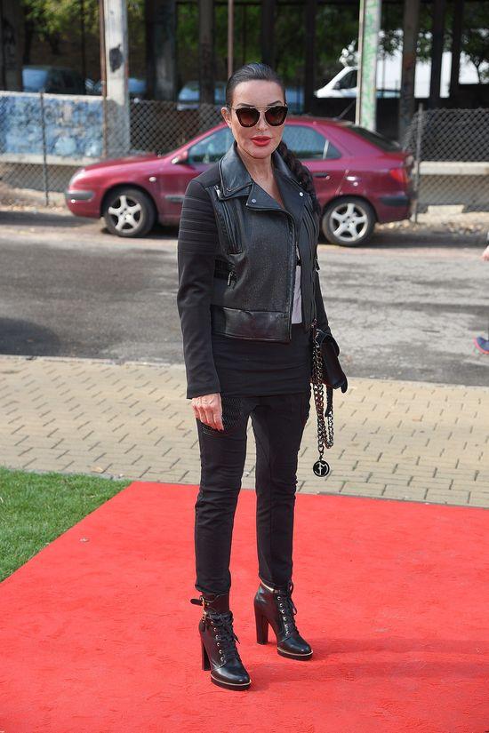 Ewa Minge trafiła stylizacją w rockowym wydaniu (FOTO)