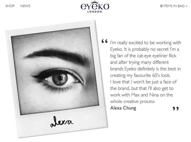 Alexa Chung rozpoczęła współpracę z Eyeko