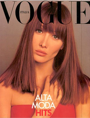 Carla Bruni na okładkach Vogue'a