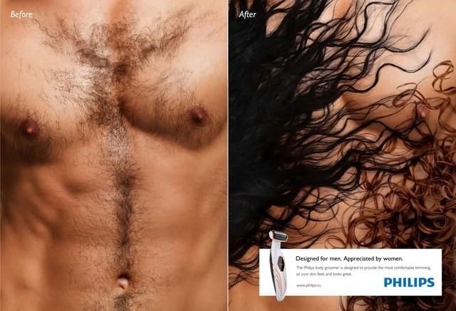 Pomysłowe reklamy produktów do golenia