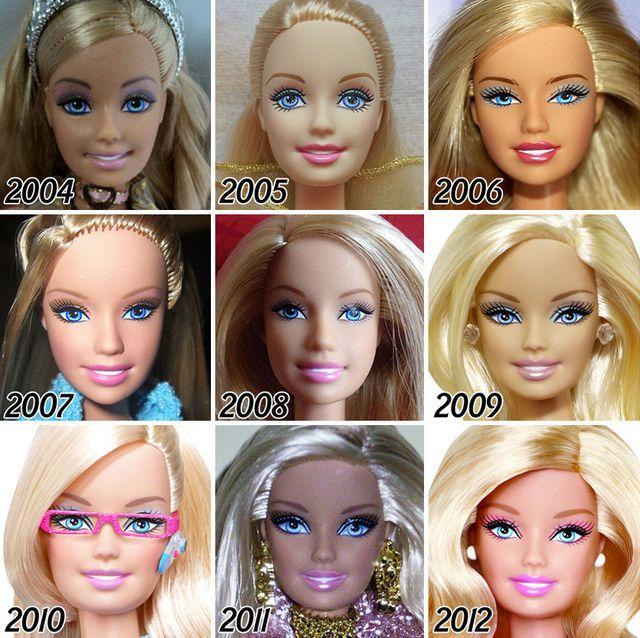 Tak w ciągu 56 lat zmieniała się twarz lalki Barbie (FOTO)