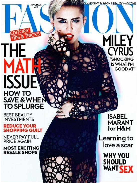 Miley Cyrus na okładce Fashion Magazine